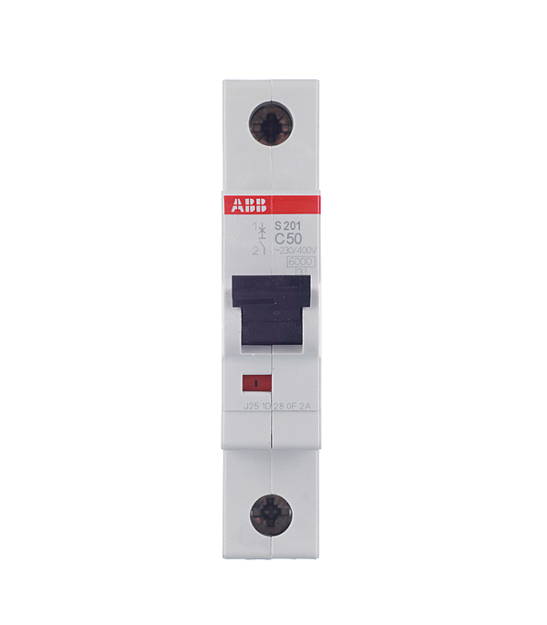 Автомат 1P 50А тип С 6 kA ABB S201 дифференциальный автомат 1p n 16а тип c 30 ма 4 5 ka abb dsh941r