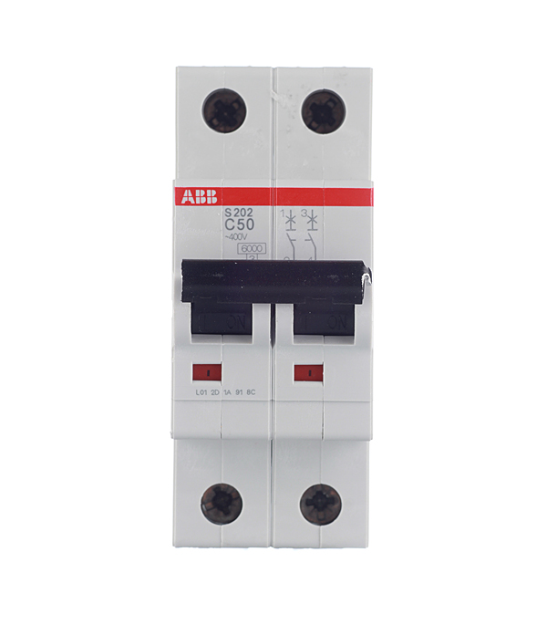 Автомат 2P 50А тип С 6 kA ABB S202 полюс abb 1sca105461r1001