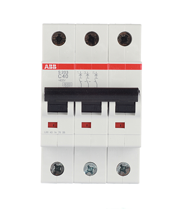Автомат 3P 40А тип С 6 kA ABB S203 полюс abb 1sca105461r1001