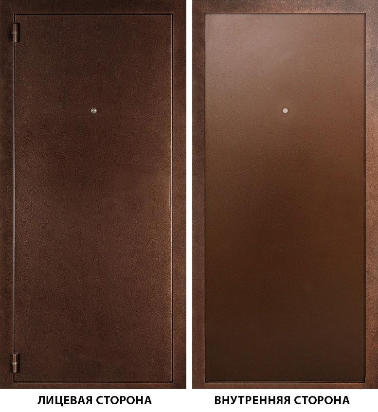 Дверь металлическая ДК Альфа 980x2050 мм левая, без ручки