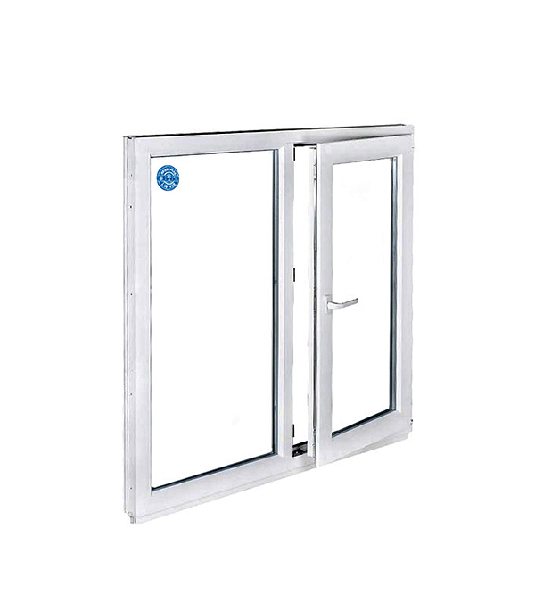 Окно металлопластиковое белое 1200х1000 мм 2 створки поворотно-откидное правое