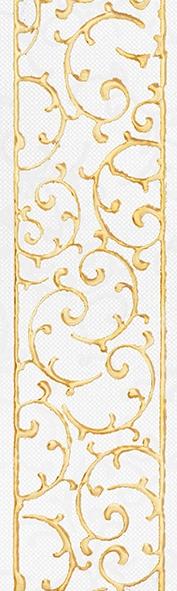Плитка бордюр 250х75х8 мм Анастасия орнамент крем