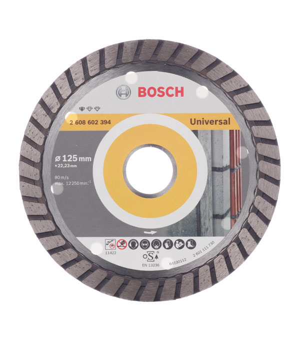 Диск алмазный турбо Bosch Профи 125х22.2 мм диск алмазный турбо с лазерной перфорацией 230х22 2 мм gross 73034