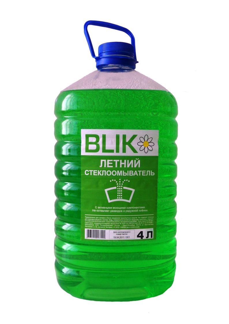Стеклоомыватель летний 4 л бутылка