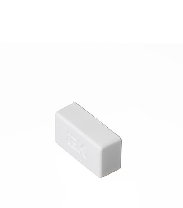 Заглушка для кабель-канала 20х10 мм белая (4 шт.)
