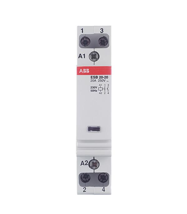 Контактор модульный ESB ABB 20А контактор abb 1sbl176001r2110