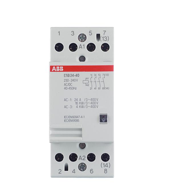 Контактор модульный ESB ABB 24А контактор abb 1sbl387001r1300