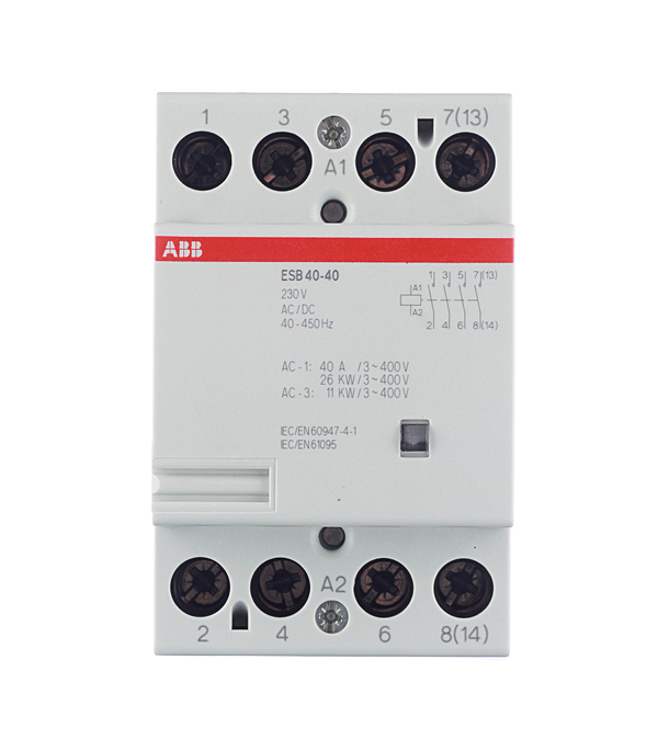Контактор модульный ESB ABB 40А контактор abb 1sbl387001r1300