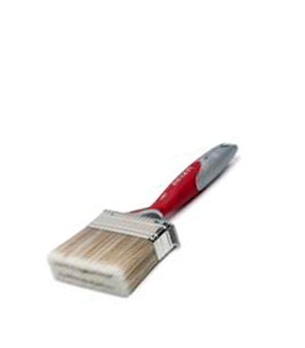 Кисть плоская  100Х30 мм искусственная щетина прорезиненная ручка Anza Профи