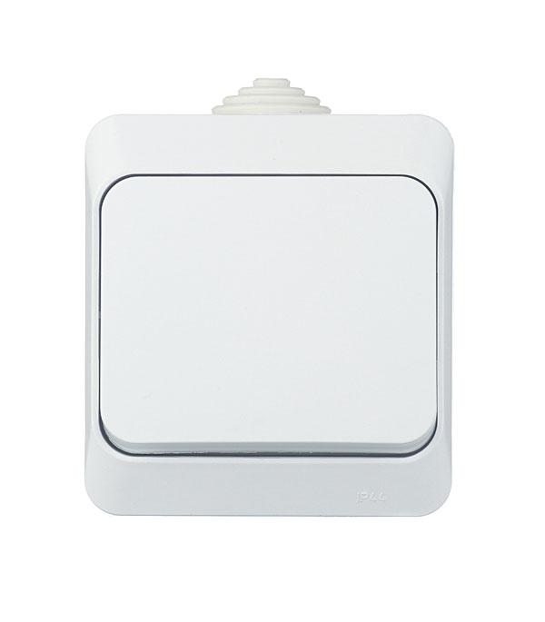 Выключатель одноклавишный  о/у IP 44 SchneiderElectricЭтюдбелый выключатель одноклавишный о у ip 44 schneiderelectricэтюдбелый