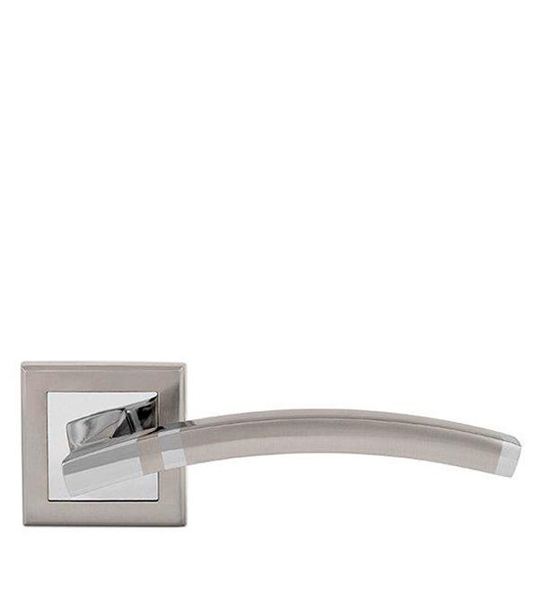 Дверная ручка Palladium City A Tesoro SN/CP матовый никель/хром ручка дверная rucetti 14 s sn cp никель сатиновый хром