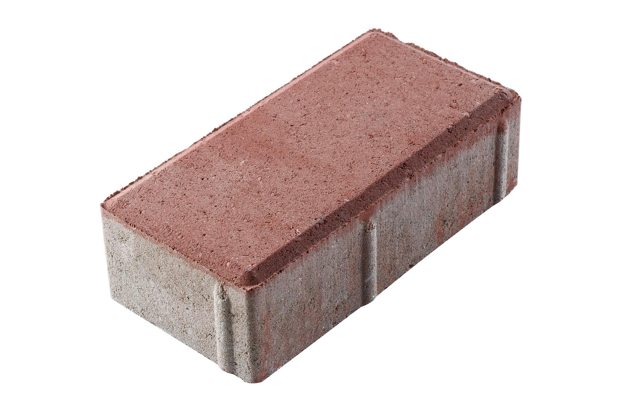 Плитка тротуарная Брусчатка (кирпичик) 100х200х60 мм красная