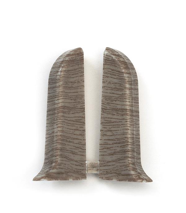 Заглушки торцевые (левая+правая) Дуб рустик 55 мм