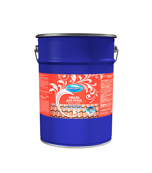 Эмаль для крыш алкидная для наружных работ Расцвет вишнёвая 8 кг