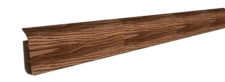 Плинтус с мягким краем королевский белый дуб, 86х24х2500 мм Nexus