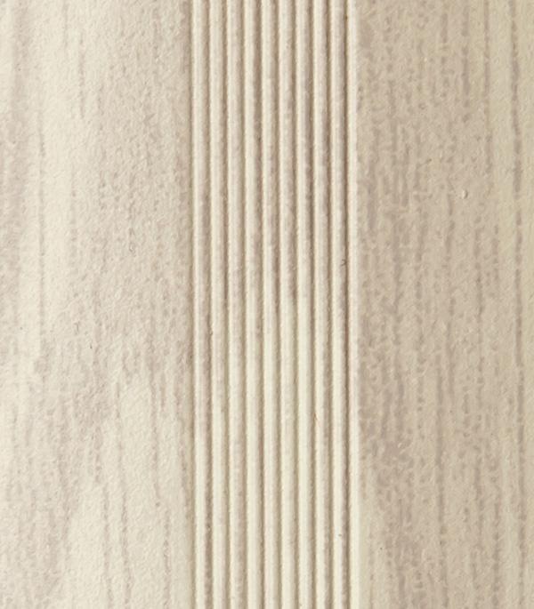 Порог стыкоперекрывающий 38х900 мм груша белая