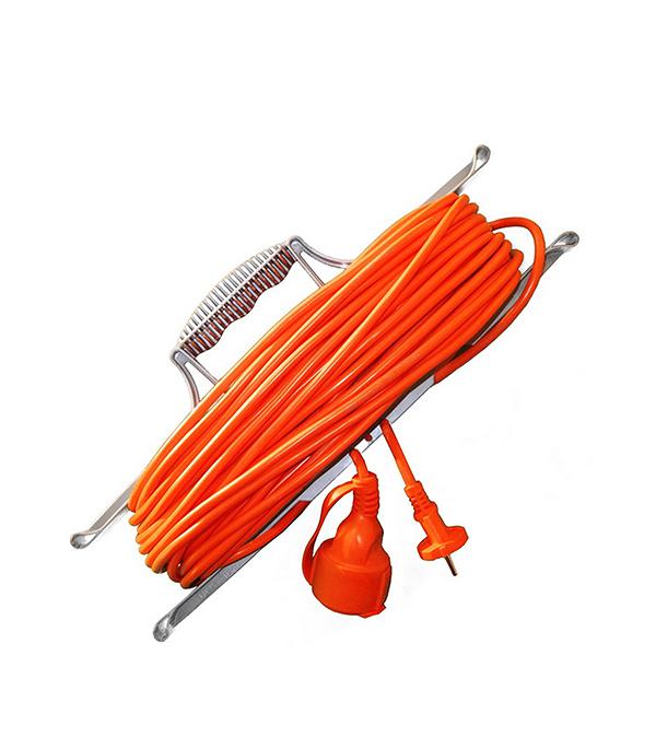 Удлинитель силовой на рамке  6 А (ПВС 2х0,75) 1 влагозащищенная розетка б/з, 30 м