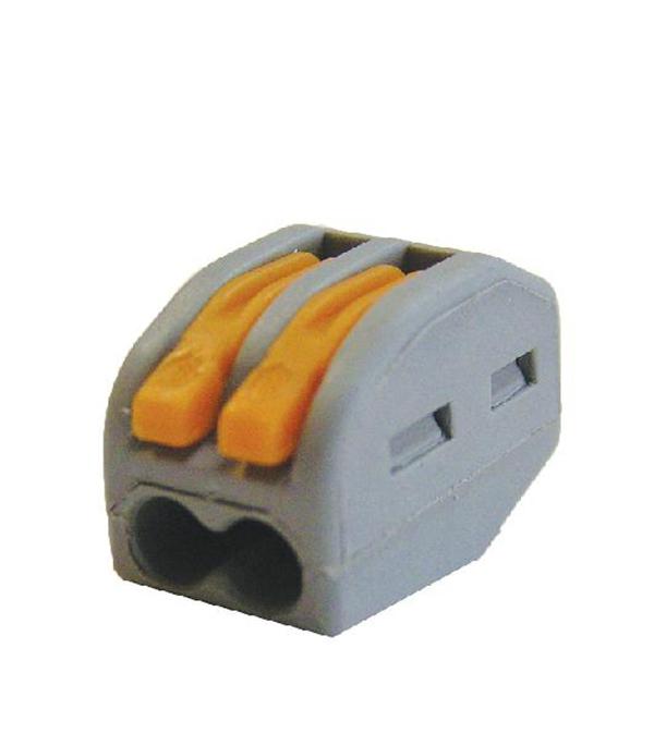 Зажим (клемма) на 2 провода СК-412 (0,1-2,5 мм.кв) без пасты, (5 шт), TDM