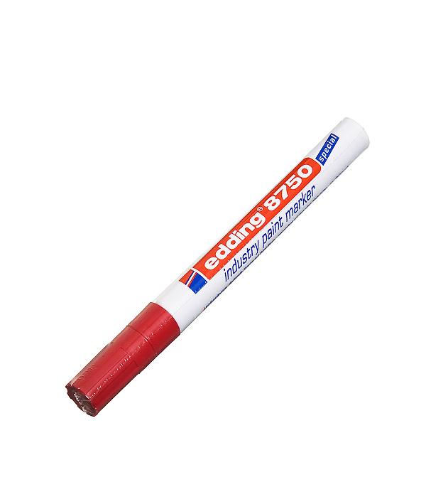Перманентный маркер Edding 8750 красный для промышленной графики 2-4 мм  маркер белый для промышленной графики 2 4мм edding 8750