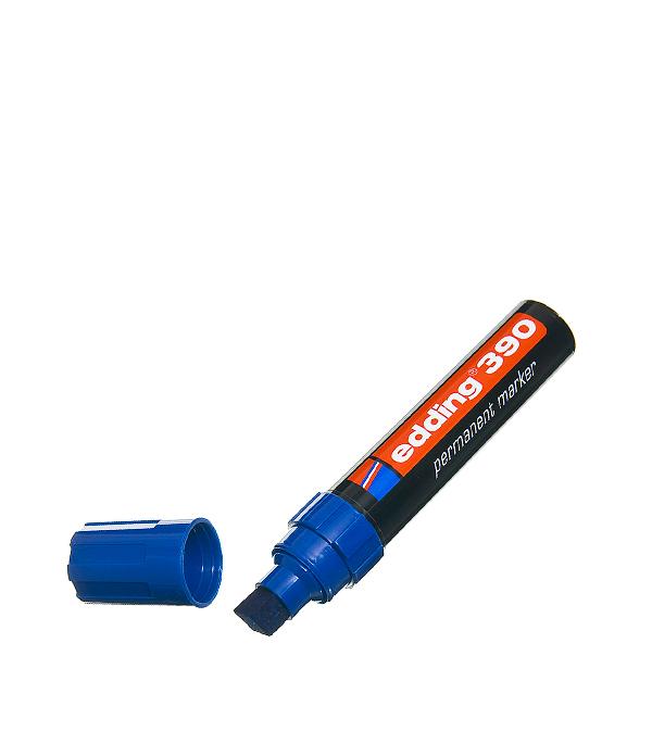 Перманентный маркер Edding 390 синий 4-12 мм маркер белый для изделий из резины шин 2 4 мм edding 8050