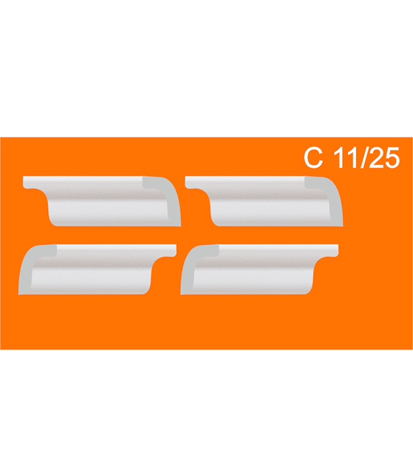 Уголки универсальные из пенополистирола C 11/25 Solid (упаковка 4 комп.) церезит ct 85 клей для пенополистирола 25 кг