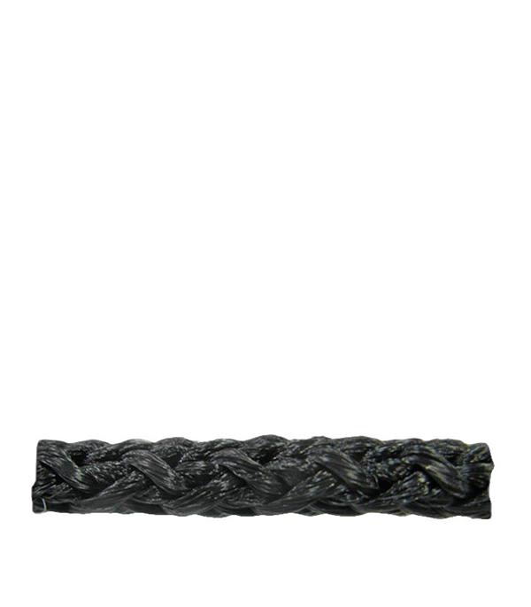 Шнур плетеный без сердеч. черный  d4 мм полипропиленовый