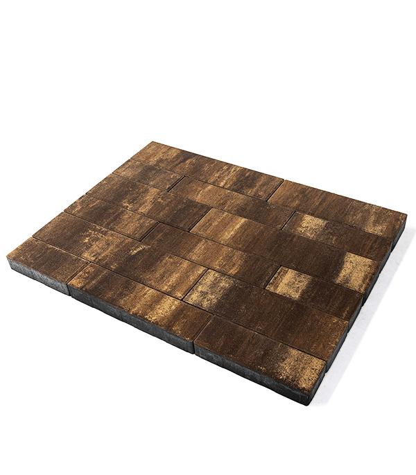 Плитка тротуарная Домино 60 мм color mix тип Каштан (11,29 м.кв.), БРАЕР щебень известняковый в калуге