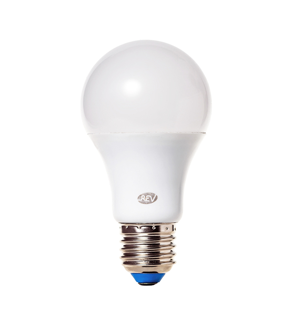 Лампа светодиодная E27 7W A60 4000K, дневной свет, REV лампочка rev led a60 e27 7w 4000k premium filament холодный свет 32354 9