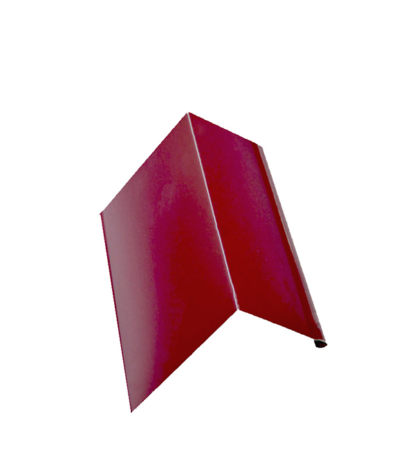 Планка карнизная для металлочерепицы  красное вино RAL 3005 50х100 мм 2 м планка примыкания для металлочерепицы 2 м красное вино ral 3005