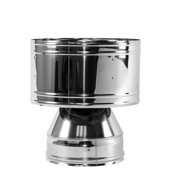 Дефлектор 120 без изоляции на расширителе зеркальный 304 минипечь gefest пгэ 120 пгэ 120