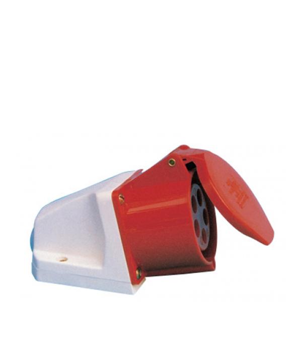 Розетка настенная IEK 400В 3P+N+E 32A IP44 контактор пм12 025100 400в iek kkp 025 400 10 278185