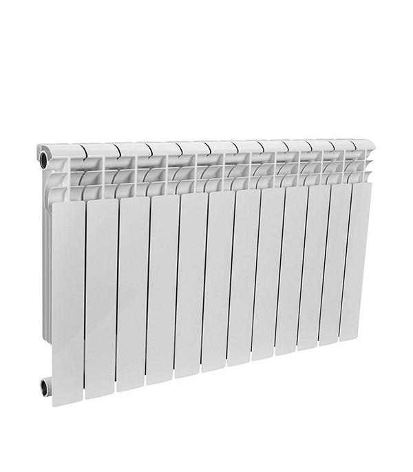 Радиатор биметаллический 1 Rommer Profi 500, 12 секций радиатор отопления rommer optima bm 500 биметаллический 8 секций