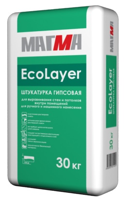 Магма Ecolayer (штукатурка гипсовая), 30 кг