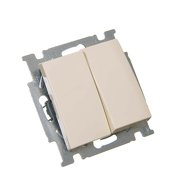 Механизм выключателя двухклавишного с/у АВВ Basic 55 слоновая кость
