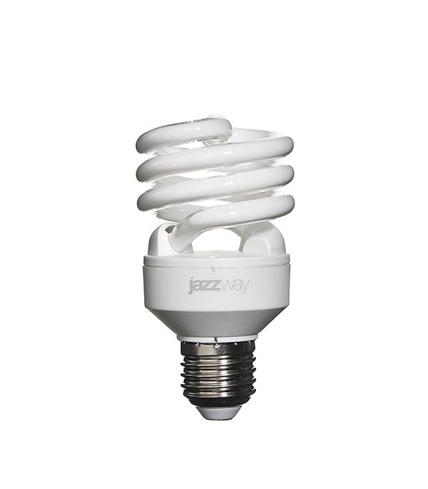 Лампа энергосберегающая E27, 20W, Spiral , 2700K (теплый свет), Jazzway