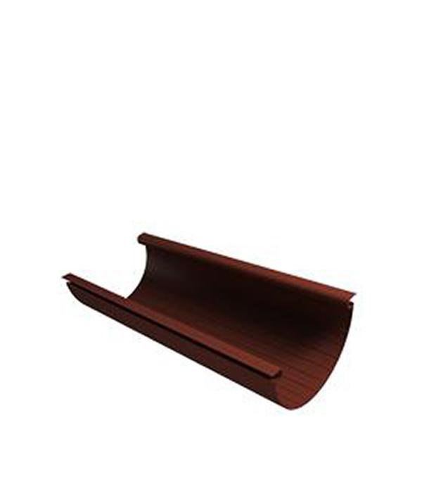 Желоб водосточный Vinyl-On пластиковый 4 м коричневый (кофе) угол желоба внутренний grand line 125 90° красное вино металлический