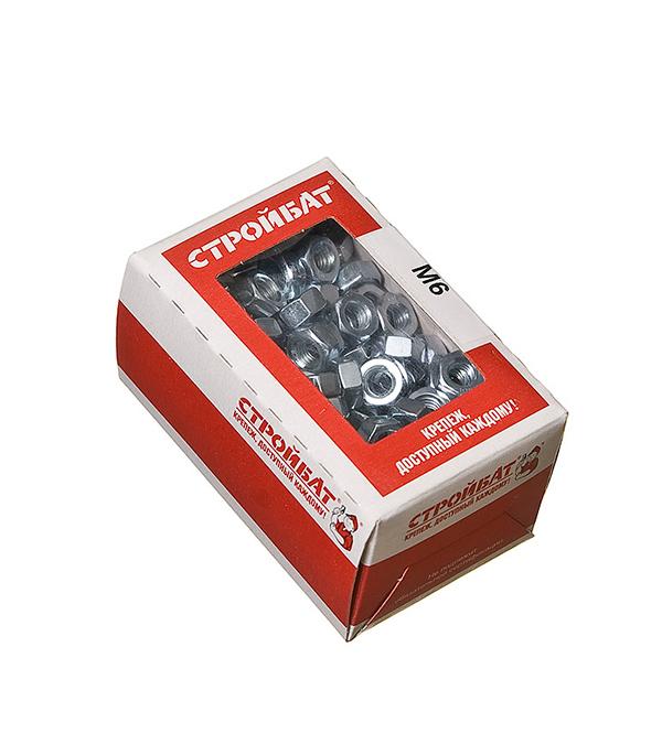 Гайки оцинкованные   М6 DIN 934 (200 шт)