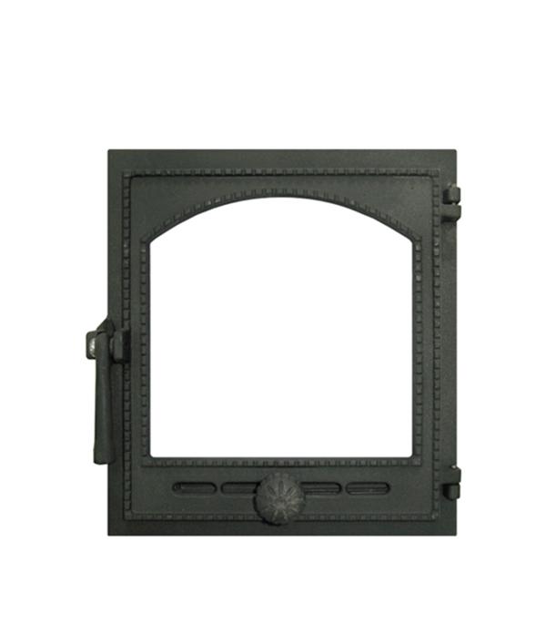 Дверца топочная ДТГ-2С Онего 290х325 мм со стеклом Robax