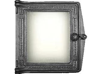 Дверца топочная ДТ-4 С 250х280 мм со стеклом Robax