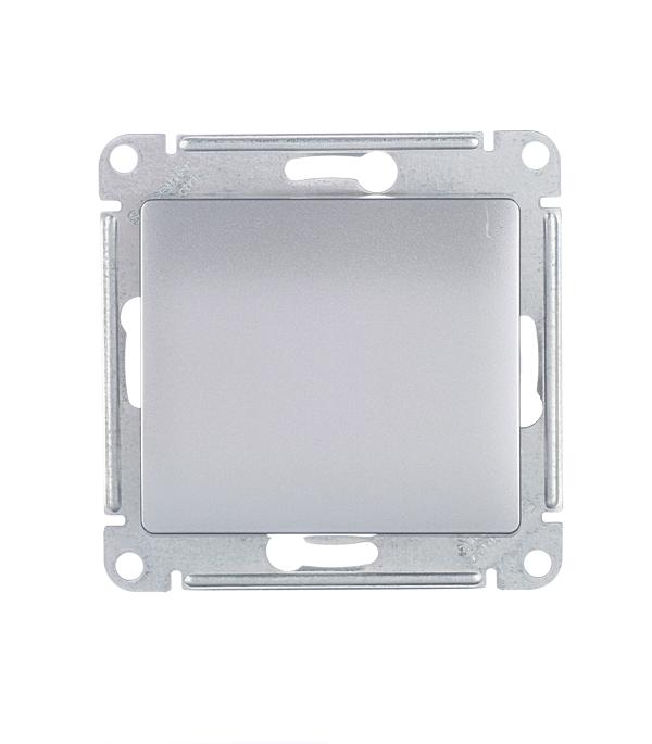 Механизм выключателя oдноклавишного с/у Schneider Electric Glossa алюминий механизм выключателя schneider electric glossa белый 1 клавишный с подсветкой gsl000113