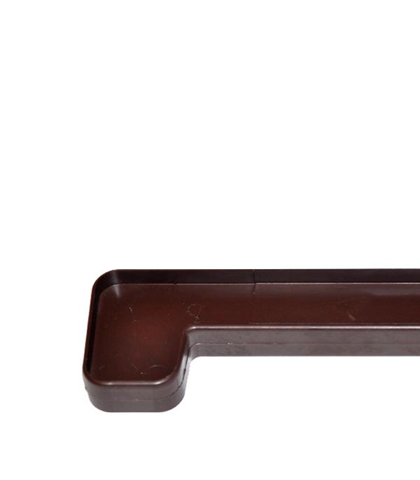 Соединитель махагон для пластиковых подоконников BRUSBOX
