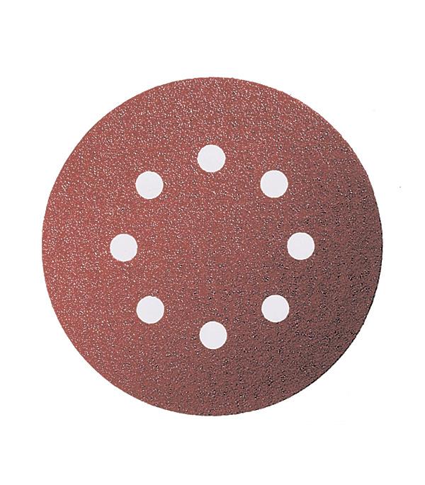 Диск шлифовальный с липучкой  Р40 d=125 мм 5 шт, перфорированный Bosch диск шлифовальный с липучкой р80 d 125 мм 5 шт перфорированный bosch