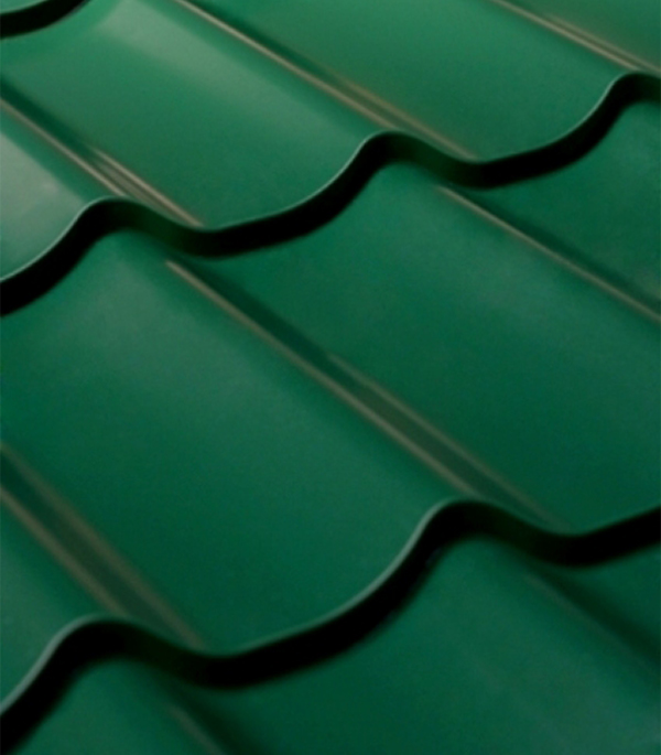 Металлочерепица 1,18х1,15 м толщина 0,4 мм зеленая RAL6005 Монтеррей  планка карнизная для металлочерепицы 80х100 мм 2м зеленая ral 6005