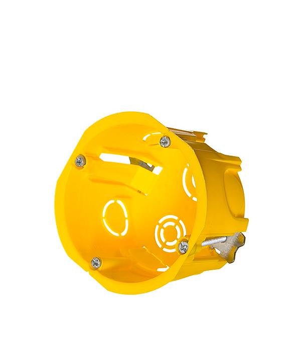 Коробка в гипсокартон Schneider Electric с/у установочная круглая наборная с металлическими лапками без кр d68 мм h45 мм угол schneider electric внешний регулируемый 60х21 etk60030