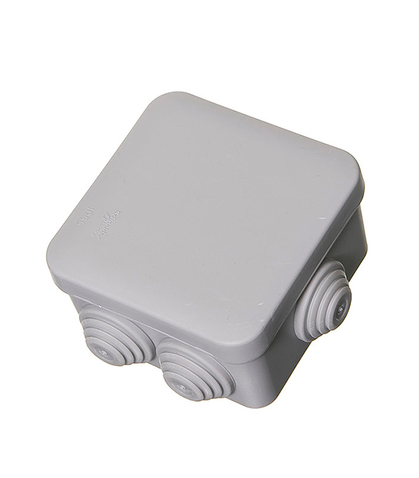 Коробка разветвительная о/у  6 вводов,  70х70x40, серая, Schneider Electric