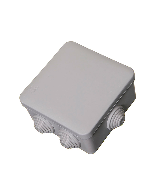 Коробка разветвительная о/у  6 вводов, 100х100x50, серая, Schneider Electric