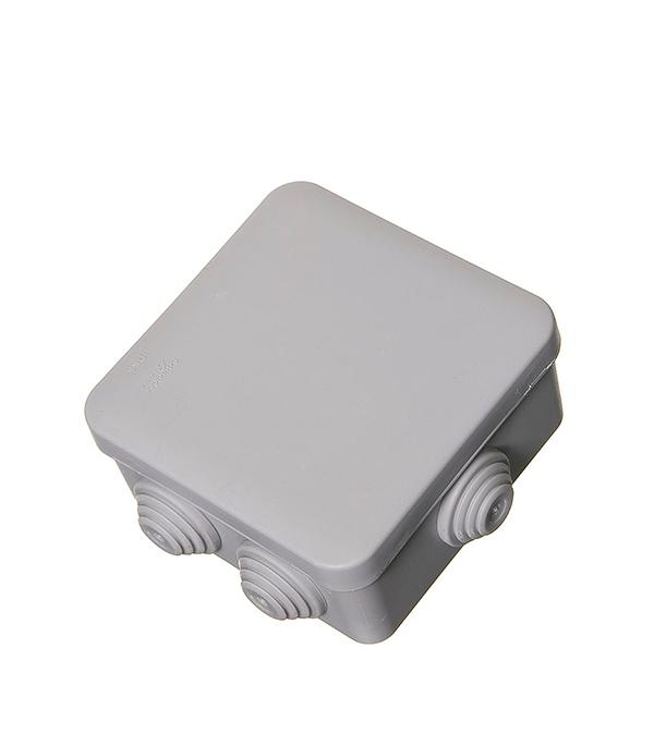Коробка разветвительная о/у  6 вводов,  85х85x40, серая, Schneider Electric