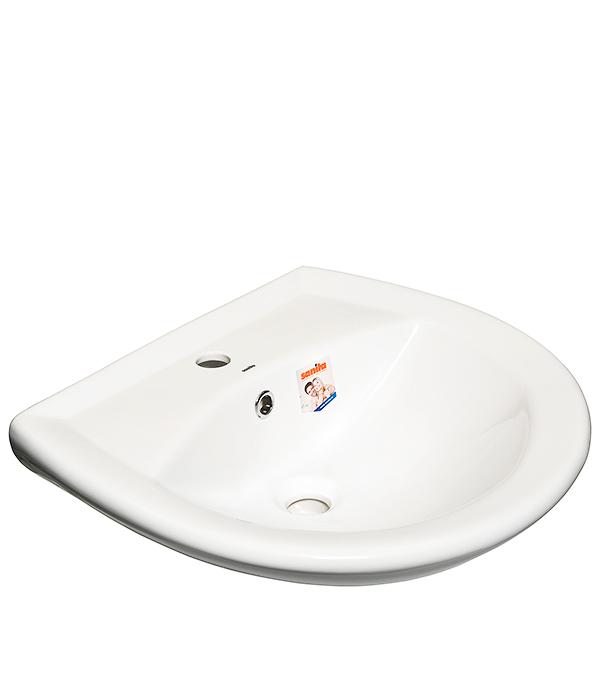 раковина на пьедестале sanita ромашка без отверстия под смеситель пьедестал в комплекте Раковина Sanita Аттика 55 550 мм