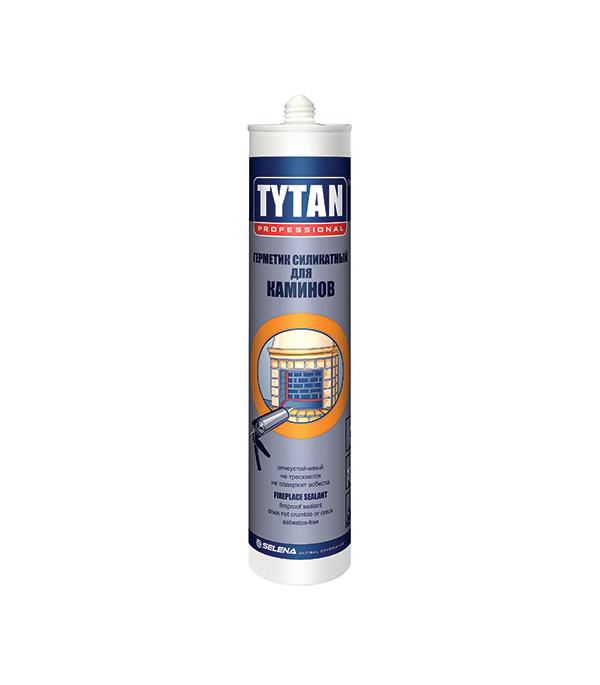 Герметик для каминов Tytan силикатный 310 мл черный силикатный блок литва симпрас купить в калининграде