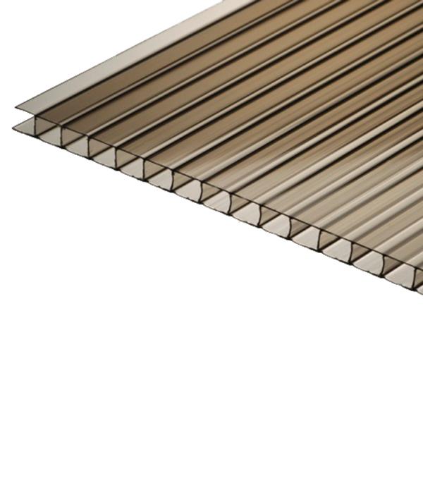Поликарбонат сотовый бронза 2100х6000х6 мм строительный